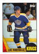 1987-88 Topps Hockey Card #42 Luc Robitaille RC Rookie Card Los Angeles Kings  Official NHL Trading Card