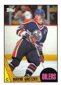 1987-88 Topps Hockey Card #53 Wayne Gretzky Edmonton Oilers  Official NHL Trading Card