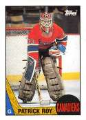 1987-88 Topps Hockey Card #163 Patrick Roy Montreal Canadiens  Official NHL Trading Card
