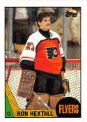 1987-88 Topps Hockey Card #169 Ron Hextall RC Rookie Card Philadelphia Flyers  Official NHL Trading Card