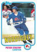 1981-82 Topps Hockey Card #39 Peter Stastny RC Rookie Card Quebec Nordiques  Officially Licensed Trading Card