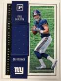 2018 Panini Quest Jumbo Rookie Memorabilia Football Card #19 Kyle Lauletta Jersey/Relic New York Giants  Official NFL Trading Card