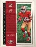2018 Panini Quest Jumbo Rookie Memorabilia Football Card #32 Dante Pettis Jersey/Relic San Francisco 49ers  Official NFL Trading Card
