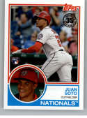 2018 Topps Update and Highlights Baseball Series 1983 Topps 35th #83-12 Juan Soto Washington Nationals  Official MLB Trading Card