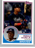 2018 Topps Update and Highlights Baseball Series 1983 Topps 35th #83-13 Ronald Acuna Jr. Atlanta Braves  Official MLB Trading Card