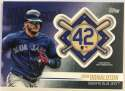 2018 Topps Update and Highlights Baseball Series Jackie Robinson Day Manufactured Medallion Patch #JRP-JD Josh Donaldson Official MLB Trading Card