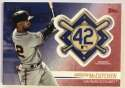 2018 Topps Update and Highlights Baseball Series Jackie Robinson Day Manufactured Medallion Patch Red #JRP-AM Andrew McC Official MLB Trading Card