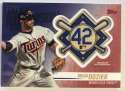 2018 Topps Update and Highlights Baseball Series Jackie Robinson Day Manufactured Medallion Patch Red #JRP-BD Brian Dozi Official MLB Trading Card