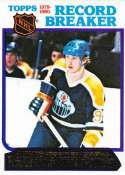 1980-81 Topps Hockey Card #3 Wayne Gretzky RB Edmonton Oilers  EX-MT Official NHL Trading Card