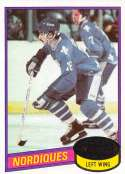 1980-81 Topps Hockey Card #67 Michel Goulet RC Rookie Card Quebec Nordiques  Official NHL Trading Card