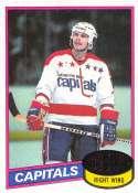1980-81 Topps Hockey Card #195 Mike Gartner RC Rookie Card Washington Capitals  Official NHL Trading Card