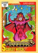 1991 Impel Marvel Universe Trading Card #26 Scarlet Witch COND Officila Marvel Character Card