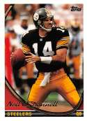 1994 Topps Football Card #211 Neil O'Donnell Pittsburgh Steelers  Official NFL Trading Card