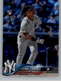 2018 MLB Topps Update Rainbow Foil US200 Gleyber Torres RC Rookie New York Yankees  RC Rookie  Official Baseball Trading Card