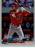 2018 MLB Topps Update Rainbow Foil US285 Shohei Ohtani RC Rookie Los Angeles Angels  RC Rookie  Official Baseball Trading Card