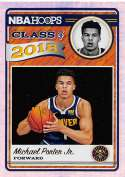 2018-19 NBA Hoops Class of 2018 Holo #14 Michael Porter Jr. Denver Nuggets  RC Rookie Parallel Official Panini Basketball Card