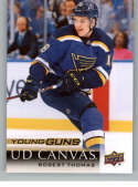 2018-19 Upper Deck Canvas Hockey Card #C114 Robert Thomas St. Louis Blues  Official UD Trading Card