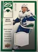 2018-19 Upper Deck 25 Under 25 Jersey Relics Hockey Card #U25-12 Brock Boeser Jersey/Relic SER/250 Vancouver Canucks  Official UD Trading Card