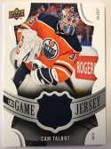 2018-19 Upper Deck Game Jersey Relics Hockey Card #GJ-CT Cam Talbot Jersey/Relic Edmonton Oilers  Official UD Trading Card