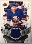 2018-19 Upper Deck Game Jersey Relics Hockey Card #GJ-EB Jordan Eberle Jersey/Relic New York Islanders  Official UD Trading Card