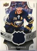 2018-19 Upper Deck Game Jersey Relics Hockey Card #GJ-JP Jason Pominville Jersey/Relic Buffalo Sabres  Official UD Trading Card