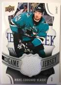 2018-19 Upper Deck Game Jersey Relics Hockey Card #GJ-MV Marc-Edouard Vlasic Jersey/Relic San Jose Sharks  Official UD Trading Card