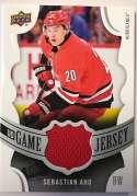 2018-19 Upper Deck Game Jersey Relics Hockey Card #GJ-SA Sebastian Aho Jersey/Relic Carolina Hurricanes  Official UD Trading Card