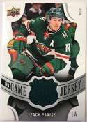2018-19 Upper Deck Game Jersey Relics Hockey Card #GJ-ZP Zach Parise Jersey/Relic Minnesota Wild  Official UD Trading Card