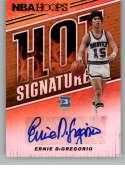 2018-19 Panini Hoops Hot Signatures Basketball Card #38 Ernie DiGregorio Auto Autograph Buffalo Braves  Official NBA Trading Card