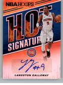 2018-19 Panini Hoops Hot Signatures Basketball Card #60 Langston Galloway Auto Autograph Detroit Pistons  Official NBA Trading Card