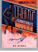 2018-19 Panini Hoops Hot Signatures Rookies Basketball Card #6 Mo Bamba Auto Autograph Orlando Magic  Official NBA Trading Card