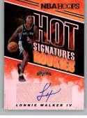 2018-19 Panini Hoops Hot Signatures Rookies Basketball Card #18 Lonnie Walker IV Auto Autograph San Antonio Spurs  Official NBA Trading Card