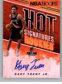 2018-19 Panini Hoops Hot Signatures Rookies Basketball Card #35 Gary Trent Jr. Auto Autograph Portland Trail Blazers  Official NBA Trading Card