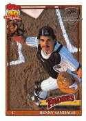 1991 Topps Desert Shield Baseball #760 Benito Santiago San Diego Padres  Official MLB Trading Card