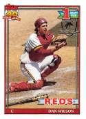 1991 Topps Desert Shield Baseball #767 Dan Wilson Cincinnati Reds  Official MLB Trading Card