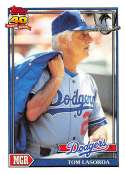 1991 Topps Desert Shield Baseball #789 Tommy Lasorda MG Los Angeles Dodgers  Official MLB Trading Card