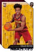 2018-19 Panini NBA Hoops Purple Winter/Holiday/Christmas #280 Collin Sexton Cleveland Cavaliers  Official Basketball Card