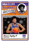 2018-19 Panini NBA Hoops Class of 2018 Winter/Holiday/Christmas #2 Marvin Bagley III Sacramento Kings  Official Basketball Card