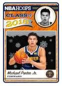 2018-19 Panini NBA Hoops Class of 2018 Winter/Holiday/Christmas #14 Michael Porter Jr. Denver Nuggets  Official Basketball Card