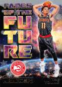 2018-19 Panini NBA Hoops Faces of the Future Winter/Holiday/Christmas #5 Trae Young Atlanta Hawks  Official Basketball Card
