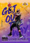 2018-19 Panini NBA Hoops Get Out The Way Winter/Holiday/Christmas #3 LeBron James Los Angeles Lakers  Official Basketball Card