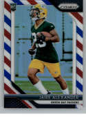 2018 Panini Prizm Prizm Red White and Blue Football #249 Jaire Alexander Rookie Green Bay Packers  Official NFL Trading Card Exclusive Parallel From F