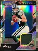 2018 Panini Prizm Prizm Premier Jerseys Football #3 Sam Darnold Jersey/Relic New York Jets  Official NFL Trading Card