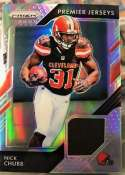 2018 Panini Prizm Prizm Premier Jerseys Football #13 Nick Chubb Jersey/Relic Cleveland Browns  Official NFL Trading Card