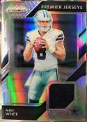 2018 Panini Prizm Prizm Premier Jerseys Football #39 Mike White Jersey/Relic Dallas Cowboys  Official NFL Trading Card