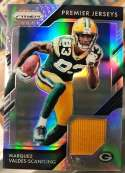 2018 Panini Prizm Prizm Premier Jerseys Football #40 Marquez Valdes-Scantling Jersey/Relic Green Bay Packers  Official NFL Trading Card