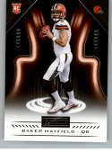 2018 Playbook Football #128 Baker Mayfield RC Rookie Card Cleveland Browns Rookie  Official NFL Card Produced by Panini