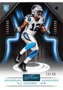 2018 Playbook Green Parallel Football #139 DJ Moore SER/25 Carolina Panthers Rookie  Official NFL Card Produced by Panini