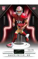 2018 Playbook Green Parallel Football #143 Dante Pettis SER/25 San Francisco 49ers Rookie  Official NFL Card Produced by Panini