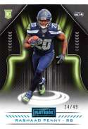 2018 Playbook Platinum Parallel Football #142 Rashaad Penny SER/49 Seattle Seahawks Rookie  Official NFL Card Produced by Panini